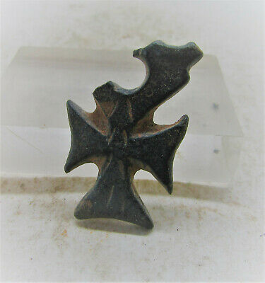 Ancient Byzantine Bronze Crusaders Cross Pendant