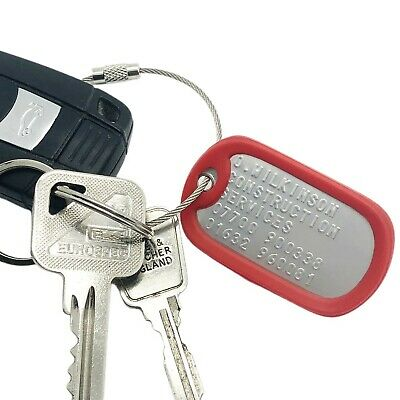 Personalized luggage tags - stainless steel metal custom embossed military grade