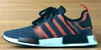 check out a8c8e a2e32 Adidas Nmd R1 Boost Shoes Black   Solar Red Stencil Pack G27917 New Mens