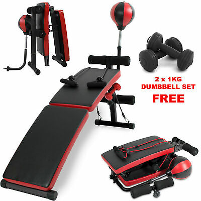 Sit Up Bench Ab Abdominal Exercise Gym Situp Machine Board Folding Roller Abs