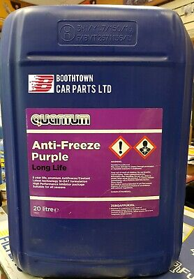 Quantum Si-oat Purple Antifreeze Coolant 20L 20 Litres Suitable for All Seasons
