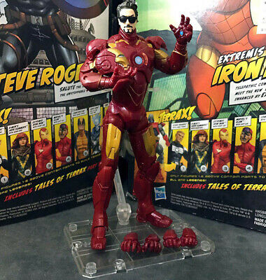 """Marvel Legends Iron Man MK 4 Armor Sunglass with Stand 6"""" Action Figure Loose"""
