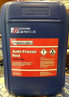 Quantum Red CONCENTRATED Red Long life  (5yr) antifreeze - 20 LITRE 20L