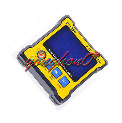 DXL360 Dual & Signal Axis LCD Digital Protractor Inclinometer Level Box 0.02°