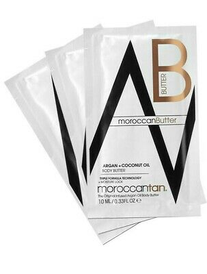 MOROCCANTAN Body BUTTER Lotion Tan Argan Coconut Oil 10ml Sample Sachet