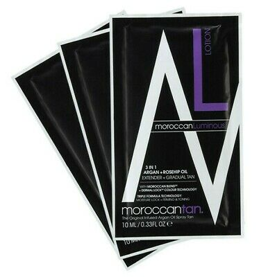 MOROCCAN LUMINOUS Lotion 3in1 Extend Gradual Tan Argan Rosehip Oil 10ml Sample