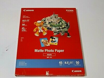 Canon 7981A004 Photo Paper Plus, 8.5 Mil, 8.5 X 11, Matte White, 50 / Pack