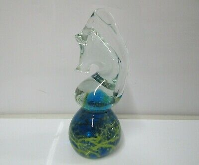 Mdina Style Vintage Art Glass Large Paperweight - Rook Knight Chess Piece 15 cm
