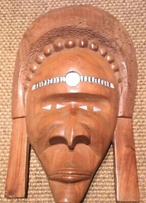 Hand Carved Mask Made In Fiji 🇫🇯 Treated Wood