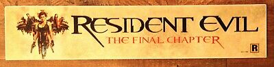 Resident Evil The Final Chapter - Movie Theater Banner / Mylar Small Version