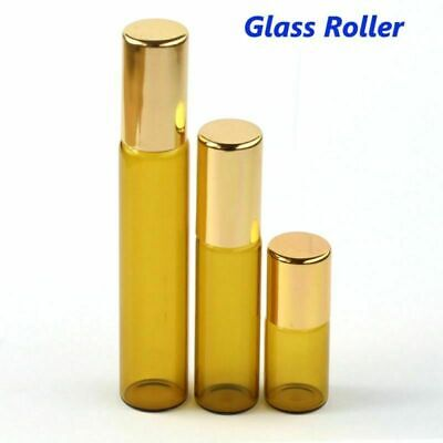 3ml 5ml 10ml Amber Roll on Glass Bottles Essential Oil Glass Roller Ball