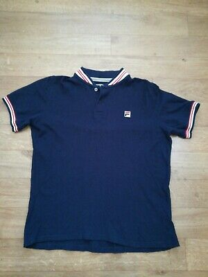 2aa6dcad6c MEN'S FILA WHITE LINE T SHIRT Small vintage / retro cotton fila colours vgc  ...
