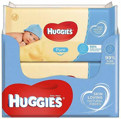 Huggies Pure Baby Wipes Mega Box Disposable 560 Wipes Big Pack of 56 X 10