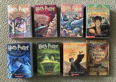 Harry Potter Complete Books Set, 1-7, Takes If Beedle, Excellent Condition