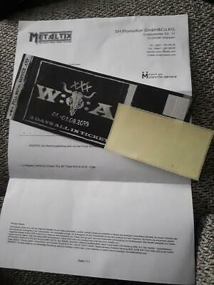 1x Wacken Open Air All In Ticket 2019 inkl Lieferschein W:O:A..