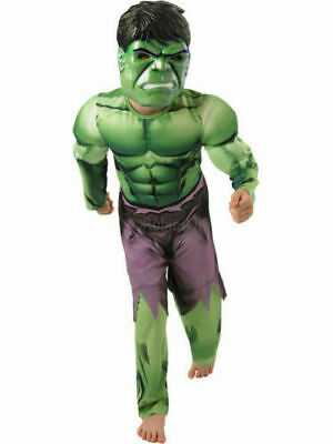Deluxe Incredible Hulk Age 3-8 Boys Fancy Dress Kid Marvel Avengers Costume COS