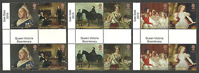 Gb 2019 Royalty Queen Victoria Bicentenary Gutter Pairs Set Mnh