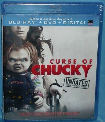 Blu-ray + DVD + Digital  : Curse of Chucky (2-Disc Set, Unrated & Rated Version)