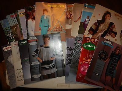 Lot Of 17 Vintage Knitking Magazines Knitting Sewing Retro Patterns 1986 - 1990