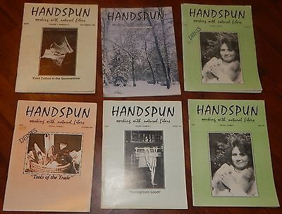 6 HANDSPUN MAGAZINES 1986 & 1987 Working with Natural fibers PRECIOUS GRAPHICOM