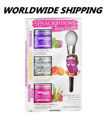 SpaScriptions Bedazzled Glitter Peel-off Mask WORLDWIDE SHIPPING