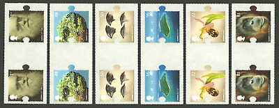 Gb 2009 Charles Darwin Birds Orchids Geology Anthropology Gutter Pairs Set Mnh