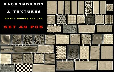 35 PCS 3D STL Model # BACKGROUNDS & TEXTURES # for CNC Aspire Artcam 3D Printer
