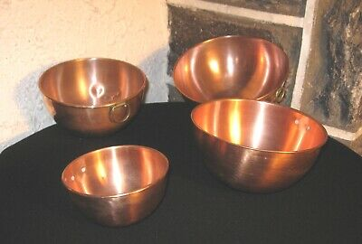 Bowls Copper bowl lot of 4 lot mixed clean Brass hangers FREE SHIPPING!!