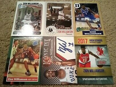 Zion Williamson 2015 2017 2018 Rare #'d Gold Auto Reprint Promo Rookie RC Lot $