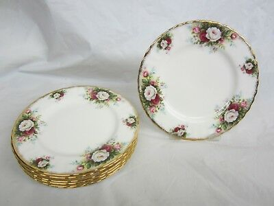Lot of 8  Royal Albert Celebration  Dinner Plates 10.25 inches