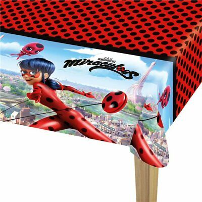 Official MIRACULOUS LADYBUG Party TABLECOVER Birthday Tableware 120cm x 180cm