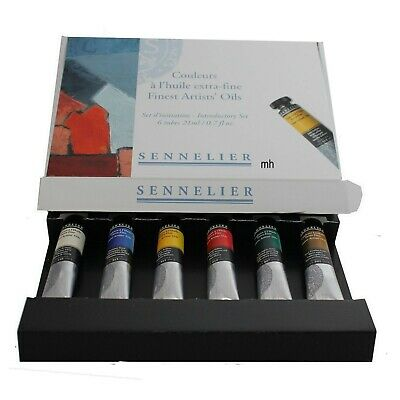 Sennelier Fine Artists' Oils Introductory set of 6 x 21ml Tubes - MADE IN FRANCE