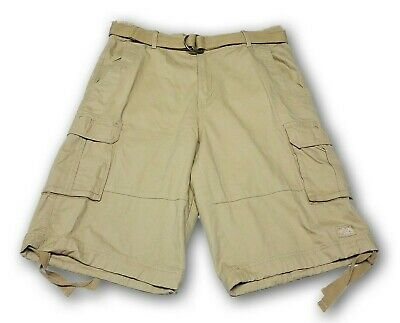 Shaka Wear Men's Khaki Cargo Shorts With 6 Pockets and Belt 100% Cotton NWT