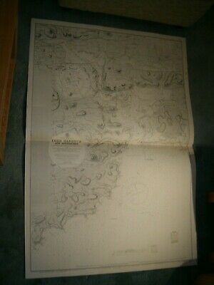 Vintage Admiralty Chart 1765 IRELAND - CORK HARBOUR & APPROACHES 1891 edn