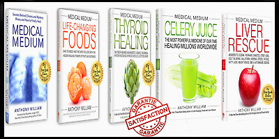 5 e-Boo₭S Set By Anthony William Medical Medium Rescue/ Celery Juice / Thyroid