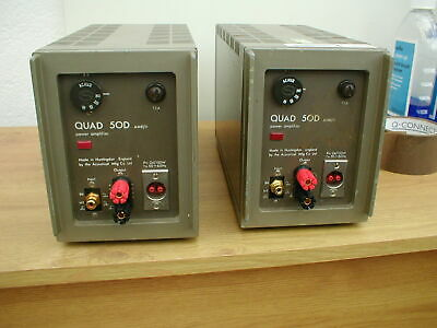 Quad 50D Monoblock Power Amps Fully Serviced