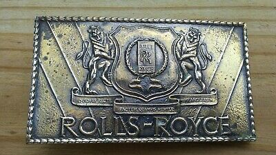 Vintage Rolls-Royce Wyoming Art Works Belt Buckle