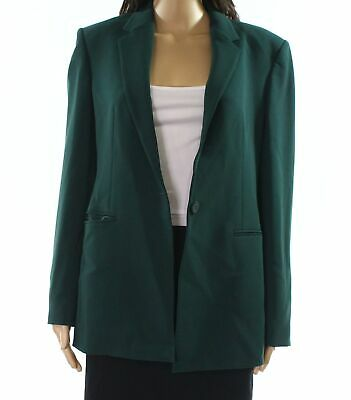 c5dd4178af7f Theory NEW Dark Green Womens Size 8 One Button Admiral Crepe Blazer $475-  153