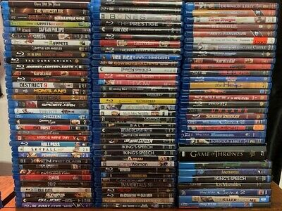 Wholesale Lot Of **100** Used Blu-Ray DVD's (All Have Cases & Artwork)
