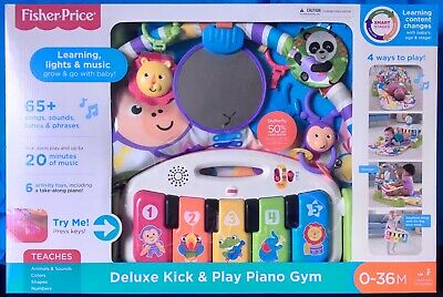 Fisher-Price FGG45 Deluxe Kick 'n Play Baby Piano Gym CANADIAN SELLER  Brand New