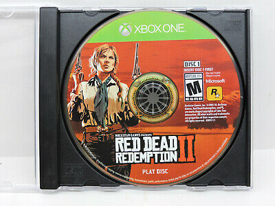 """Red Dead Redemption II 2 (Microsoft Xbox One) DISC 1 ONE ONLY """"Play Disc"""""""