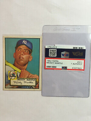 1952 Topps Mickey Mantle Card PSA AUTHENTIC?
