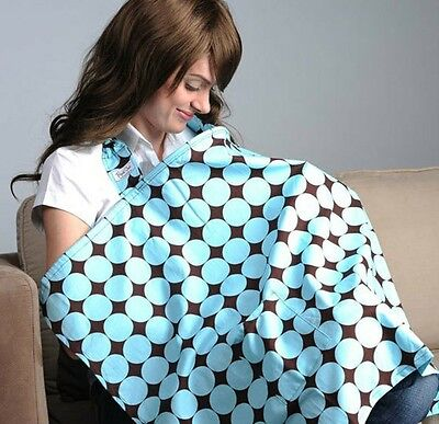 blue coffee circle Baby Kids Nursing Breast Feeding unisex cotton cover mum out