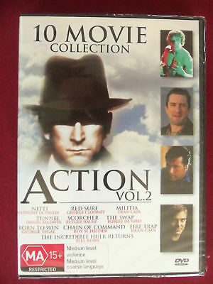 10 MOVIE COLLECTION - ACTION VOL. 2 DVD Brand New & Sealed All Regions