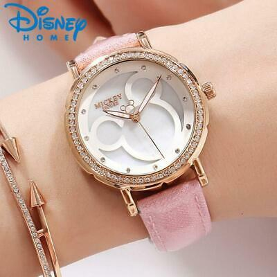 Fashion Mickey Mouse Watches Women Luxury Leather Quartz Wrist Watches for Women