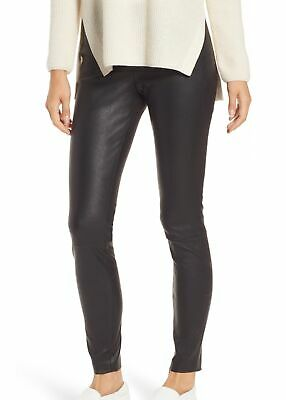 94e4a2274238f Nordstrom Signature NEW Black Womens Size 14 Leather Ankle Pants $799 641