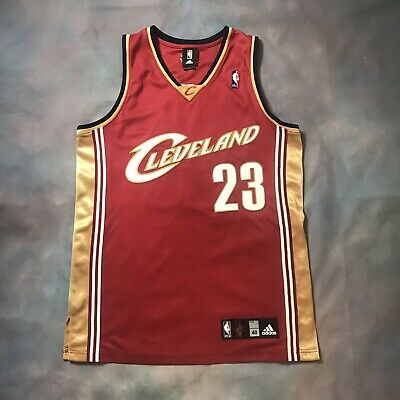 newest ac01a ff151 AUTHENTIC LEBRON JAMES Adidas Jersey 40 Game Worn Pro Cut