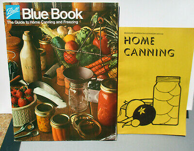 Ball Blue Book Guide To Home Canning & Freezing & Vintage Mississippi Book