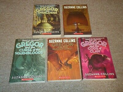 Complete Lot 5 Underland Chronicles Suzanne Collins Gregor Overlander Code Claw