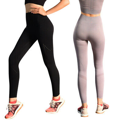 Women Sport Pants Stripe High Waist Yoga Fitness Leggings Ladies Casual Sli I1Y6